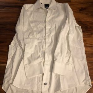 Men's dress white button down